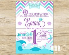 Little Mermaid Invitation Wording Ideas