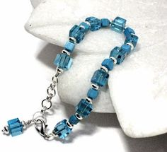 Turquoise and Silver Bracelet by sweetdreamzdesigns on Etsy, $9.00