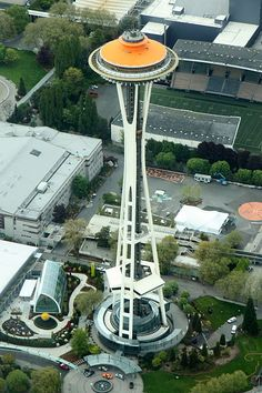 File:Aerial Space Needle Painted Gold May 2012.JPG  Seattle, WA