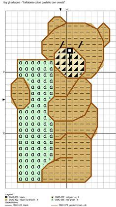 alfabeto colori pastello con orsetti I