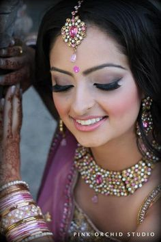 Indian Bridal Hair/Makeup  more inspiration @ http://www.ModernRani.com