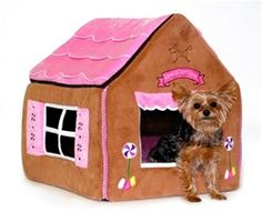 Sweet Dream House I just bought my yorkies a gingerbread house very similar!