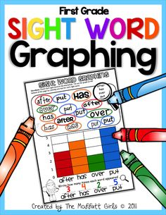 1st Grade Sight Word Graphing!  Combines sight words AND math skills!  Such a FUN way to learn those tricky sight words!!