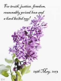 Lilac Day 2013. Discworld quote by Sir Terry Pratchett. by Kim White