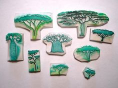 hand carved tree | http://amazingstampgallery.blogspot.com