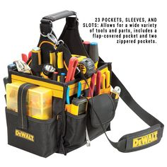 DEWALT DG5582 11-Inch Electrical and Maintenance Tool Carrier with Parts Tray - Tool Bags - Amazon.com