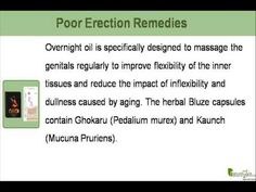 This video describes about ayurvedic remedies for poor erection problem in men. You can find more detail about Bluze capsules at http://www.naturogain.com