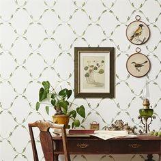 Ekeblad wallpaper - green - Sandberg Wallpaper
