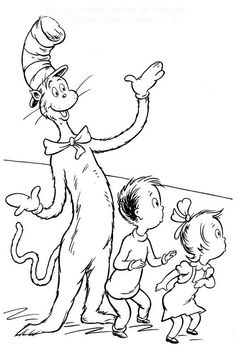 coloring page Cat in the Hat - Cat in the Hat