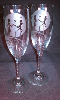 Custom Jack and Sally Simply Meant To Be Wedding by KittyPiston, $55.00