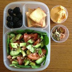 """""""Packing lunch for myself for a change! @EasyLunchboxes are for grownups, too."""" - via howaboutcookie  - Instagram"""