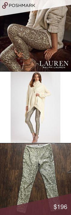 Ralph Laurent pants Ralph Lauren sequins pants, brand new! The material is stretch. Very sexy and elegant! Lauren Ralph Lauren Pants Leggings
