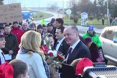 Ilustračný obrázok k článku Prezident Kiska dorazil do Humenného: Prvé zábery z jeho vítania v našom meste