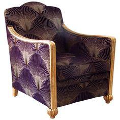 Art Deco Club Chair or Armchair, France, 1935   1stdibs.com