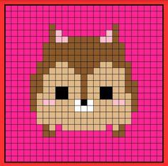 Chip tsum tsum perler bead hama bead crochet graphghan pattern