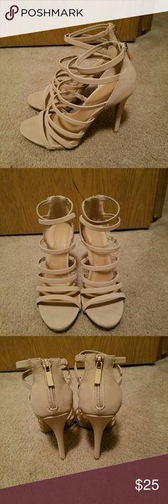 *on sale* Tan heels Never worn Shoes Heels