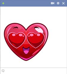 love sign in facebook chat