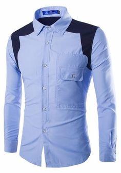 Camisa Fashion Casual Juvenil en Dos Colores - Puño Francés - en 4 Colores — CamisasMasculinas.com - Lo Mejor de la Moda Masculina