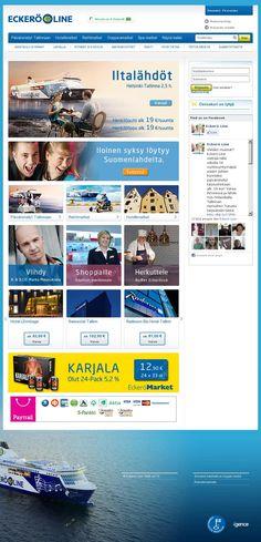 "Eckerö Line Website - ""WebSphere Commerce made"" #webspherecommercemade #ecommerce"