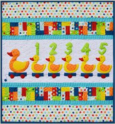 Just Ducky - by Kids Quilts - Wall Crib Quilt Pattern: Fabric Patch: Patchwork Quilting fabrics, Moda fabric, Quilt Supplies, Patterns Patchwork Quilt Patterns, Applique Quilts, Pattern Fabric, Elizabeth Hartman Quilts, Snowman Quilt, Baby Applique, Cot Quilt, Iron On Fabric, Animal Quilts