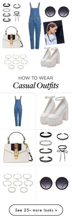 """""""Casual outfit"""" by ilieelena on Polyvore featuring M.i.h Jeans, Alice + Olivia, Gucci and Forever 21"""