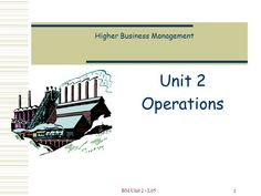 Business Management, The Unit, Senior Management