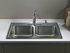 Toccata Top Mount Kitchen Sink With Four Faucet Holes | K 3346 4