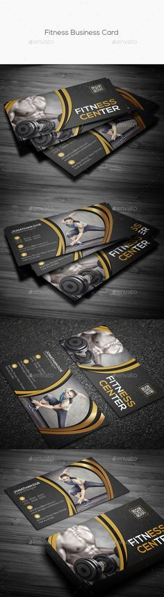 Fitness Business Card — Photoshop PSD #sport #health • Available here → https://graphicriver.net/item/fitness-business-card/15063634?ref=pxcr