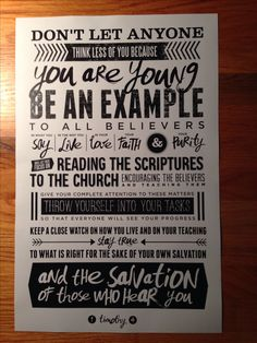 Scripture typography for our student ministry verse.