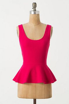 Anthropologie peplum tank
