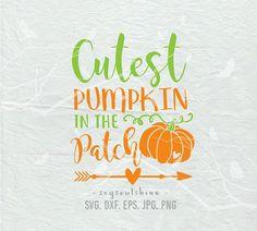 Cutest Pumpkin In The Patch SVG File Silhouette Cutting File