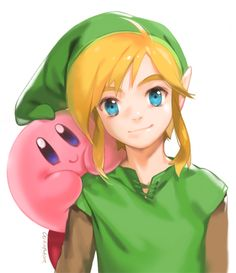 ALBW Link and Kirby