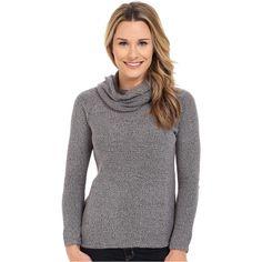 Merrell Ravion Hoodie Women's Sweatshirt featuring polyvore, women's fashion, clothing, tops, hoodies, brown, long sleeve tops, sweatshirt hoodies, cowl neck hoodie, hooded pullover and cowl neck hooded sweatshirt