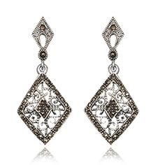 Joyeria Plata y Azabache Artesania Galicia Home Page Silver and Black Jet Crafts Jewelry Crafts Tax Free, Marcasite, Jewelry Crafts, Delicate, Drop Earrings, Sterling Silver, Retro, Collection, Black