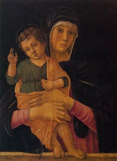Giovanni Bellini, Madonna with Child Blessing 1460-64. Gallerie dell'Accademia, Venice