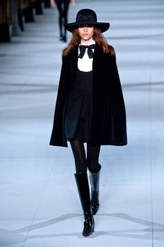 Saint Laurent Fall 2014. See all of our favorite runway looks from Paris Fashion Week here.