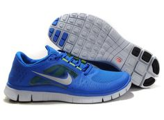 Nike Free Run 5.0 V3 Blue White Mens running Shoes