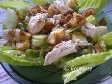 Caesar's Chicken Salad & Salmon Salad Light Diet, Salmon Salad, Chicken Salad, Potato Salad, Diet Recipes, Potatoes, Meat, Ethnic Recipes, Food
