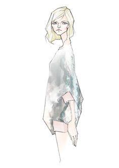 Zejak ss16 cashmere tunic, sketch