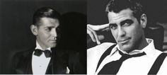 Clark Gable and George Clooney Clark Gable, George Clooney, Greatest Adventure, Black And White, Classic, Pretty, Derby, Black N White, Black White