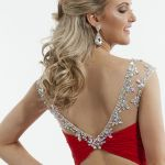 RACHEL ALLAN 6642 - $298.00. Mini dress with sexy back.  #minidress #beaded #lace #sexyback #openback #red #embroidered #holidaydress #partydress #promdress #prom2015 #promoutfitters