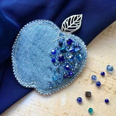 Source by You might feel that the annals of handcrafted beaded jewelry cannot possibly be ve Bead Embroidery Jewelry, Textile Jewelry, Fabric Jewelry, Beaded Embroidery, Embroidery Designs, Beaded Jewelry, Brooches Handmade, Handmade Jewelry, Bead Crafts