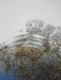 Reflective Paintings of Water and Ripples by Yoshihito Kawase