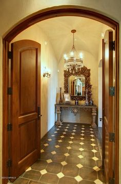 Spanish style entry way