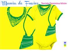 A torcida feminina não pode perder o charme! #body #kids #bebe #roupinha #bodysuit #camiseta #tshirt #selecaobrasileira #futebol #brasil #brazuca #fuleco #neymar #hexa #hexabrasil #campeao #championship #copadomundo #worldcup #footbal #fifa #fashion #girl #babygirl