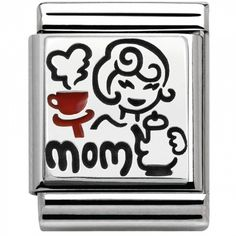 Nomination BIG Silvershine My Family Mom Charm Nomination Charms, I Love You Mum, Mother Day Gifts, Jewelery, Gifts For Her, Charmed, Sterling Silver, Link, Mom