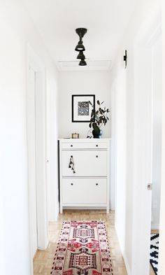 A Small Hallway Gets a Minimal Makeover | Curbly | Pinned to Nutrition Stripped | Home
