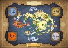Avatar the Last Airbender Map