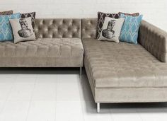 Z Gallerie Vapor Sectional, Sectional Sofas - Home Remodelling