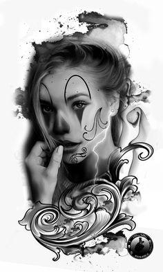 Rose Drawing Tattoo, Tattoo Sketches, Tattoo Drawings, Chicanas Tattoo, Body Art Tattoos, Sleeve Tattoos, Tattoo Studio, Og Abel Art, Urban Tattoos